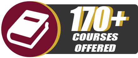 170+ Courses Offered