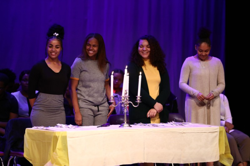 Officers of the Bishop McNamara High School National Honor Society 2018-2019