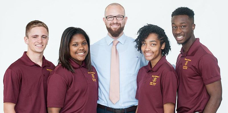 Co-Director of Admission, Mr. Jeffrey Southworth with Senior Ambassadors