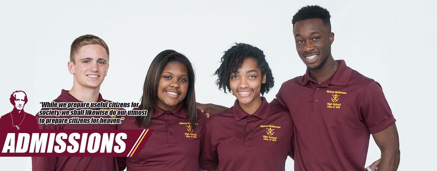 Bishop McNamara students are part of a family