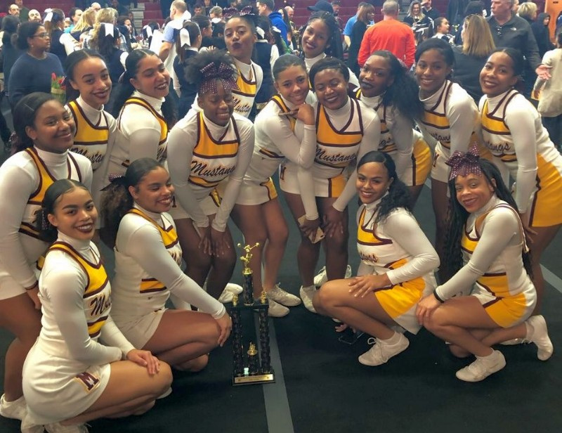 Varsity Cheer Team wins 1st Place WCAC Cheerleading Competition