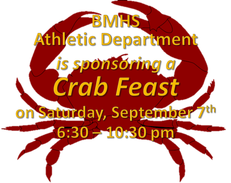Crab Feast for Athletic Department Sept. 7th