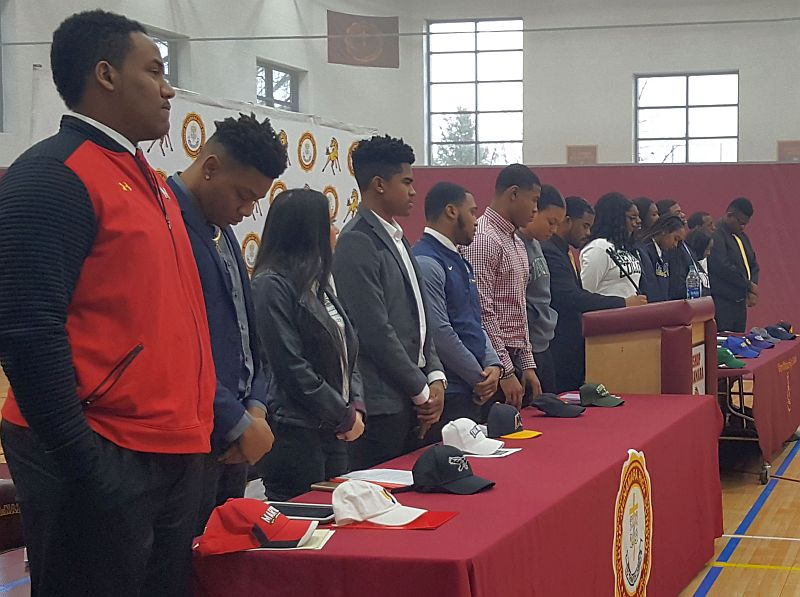 National Signing Day for 15 Bishop McNamara Student-Athletes who have been awarded college scholarships