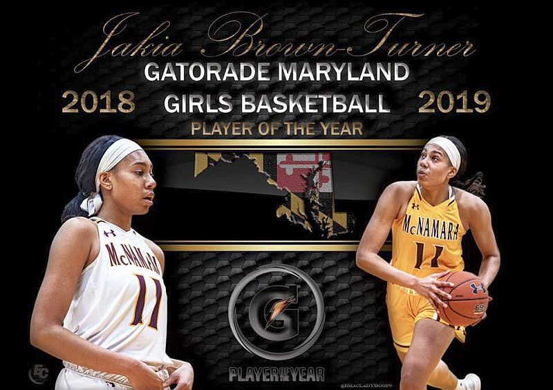 Jakia Brown-Turner '19 Gatorade Maryland Girls Basketball Player of the Year