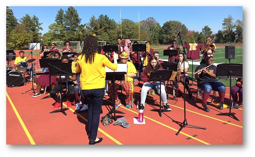 Ms. Hardy and the Pep Band