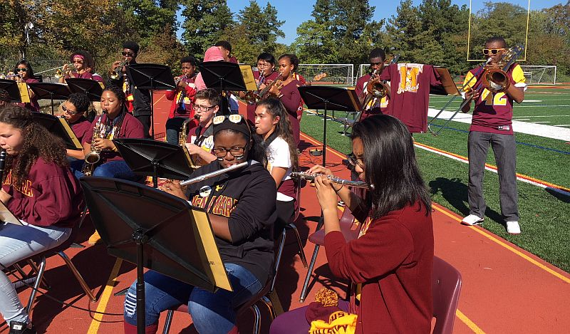 BMHS Pep Band performs at Football Home game