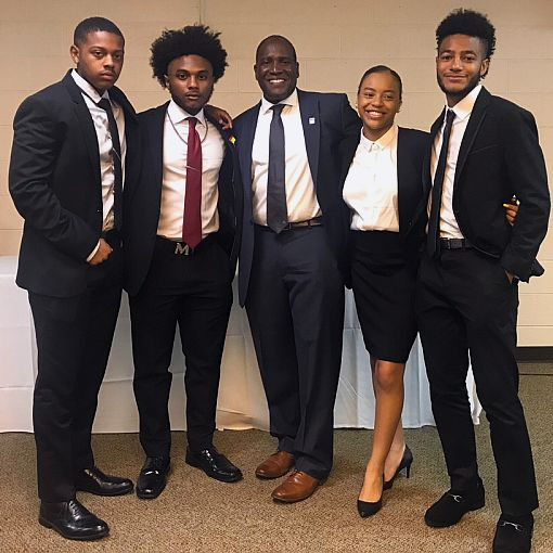 Hampton University High School Leadership Summit - Pictured below from left to right: Malcolm Goodley, Bryson Boston, Dr. Jarris Louis Taylor, Jr., Kamryn Rodgers and Wayne Bumbry