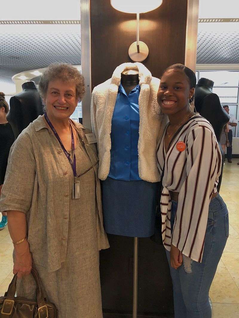 Imani Ezell '19 with SCAD professor, Evelyn Pappas