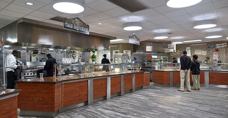 Our new kitchen and cafeteria at the Mona Student Center
