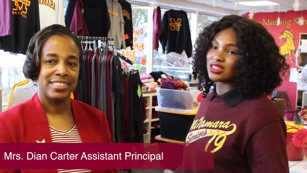 Mrs. Dian Carter, Assistant Principal talks about the Mustang Shop