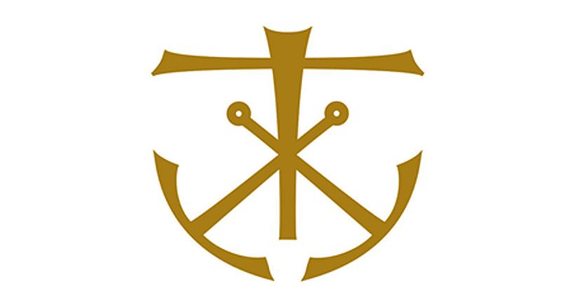 The Cross and Anchor, symbol of the Holy Cross Congregation