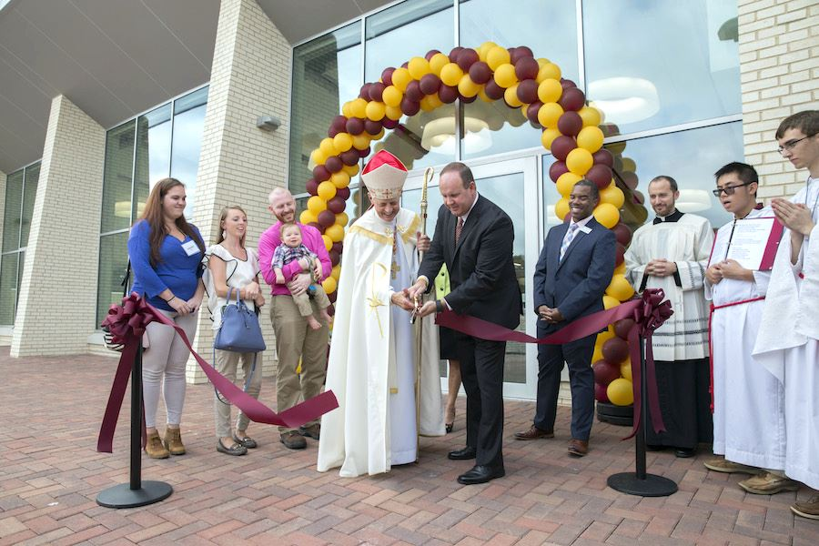 Andy Mona Student Center Dedication October 2017 with Cardinal Wuerl